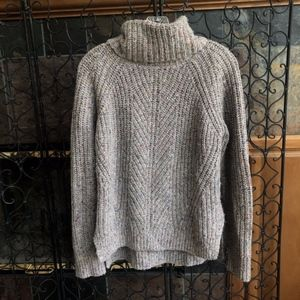 Madewell Colorfleck Turtleneck Ribbed Knit Sweater